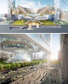 Sky Park: Design Idea Floats City Block Over Penn Station