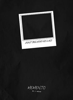 Memento (2000) ~ Minimal Movie Poster by Salvatore Rotolo #amusementphile