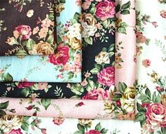 Zaka Shaby Chic Rose Flower Fabric Cloth 5 Colors 28 X 25 Inches ...