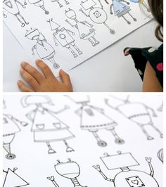 Awesome free printable robot coloring page for kids from Dabbles and Babbles