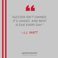 J.J. Watt on success. Outdoor Volleyball Net, Volleyball Equipment, Volleyball Motivation, Motivational Quotes, Success, Inspirational Qoutes, Quotes Motivation, Motivation Quotes, Inspiring Words