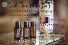See ya later PMS & cramps, bye bye hormones and stress! Visit www.EssentiallyMo... for more information and to order your doTERRA oils today! (clary sage, lavender, PMS, craps, roller ball, blend, recipe, frankincense, coconut oil)