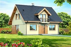 Projekt domu Amor 117,31 m2 - koszt budowy 189 tys. zł - EXTRADOM Style At Home, My House Plans, Prefabricated Houses, House Front Design, Cottage Style Homes, Design Case, Home Fashion, Old Houses, Exterior Design
