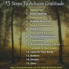 15 Steps to Achieve Gratitude ~ Bring it to your Yoga Mat & Beyond!