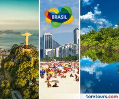 Viaje a #Brasil con nuestros paquetes completamente personalizados. No se pierda la oportunidad de vivir este destino majestuoso! Para más información comuníquese al (212) 947-3131.#Paquetes #SomosLatinoamérica #TomTours