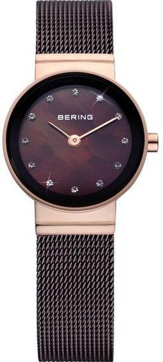 Bering Time - Classic - Ladies Brown Mesh Watch 10122-265 (Women'S)