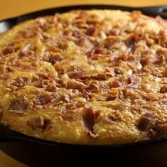 Skillet Corn Bread With Fresh Cut Corn And Bacon (via foodily.com)