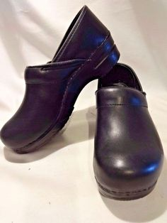 DANSKO 10.5 Black Professional Clogs EU 41 Clogs Mules Womens Shoes Nursing EUC #Dansko #NursingUniform