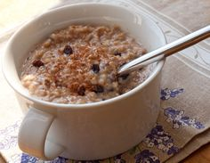 Steel Cut Oats with Maple Syrup, Currants and Coconut | Once Upon a Chef