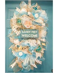Sandy Feet Welcome Beach Door Swag | CraftOutlet.com Photo Contest