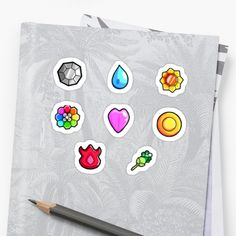 Pokemon Gym Badges: Kanto by Broseidon13