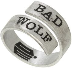 Doctor Who Bad Wolf Wrap Around Ring