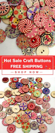 to OFF -- Retro Wooden Sewing Buttons DIY Craft Bag Hat Clothes De.- Molly- to OFF -- Retro Wooden Sewing Buttons DIY Craft Bag Hat Clothes De.- Molly- Make never faded flowers by buttons, easy handle crafts 100 Pcs/Pack Mixed R. Crafts To Make, Crafts For Kids, Diy Crafts, Arts And Crafts, Diy Buttons, Vintage Buttons, Buttons Ideas, Button Art, Button Crafts