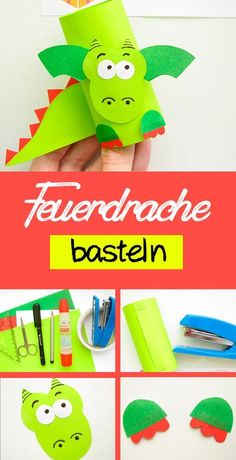 Feuerdrache aus Papier mit Kindern basteln Make a fire dragon out of paper: Instructions for children. Fall Arts And Crafts, Diy Crafts To Do, Easy Crafts, Toilet Roll Craft, Toilet Paper Roll Crafts, Paper Crafts, Make A Dragon, Fire Dragon, Dragon Age