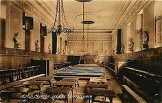 Windsor England UK 190 Eton College Upper Schoolroom Antique Vintage Postcard
