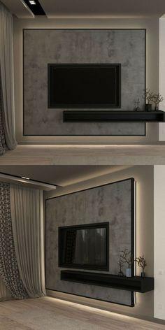 Modern Tv Unit Designs, Modern Tv Wall Units, Living Room Tv Unit Designs, Simple Tv Unit Design, Bedroom Tv Unit Design, Modern Tv Cabinet, Tv Wall Unit Designs, Modern Tv Room, Tv Console Modern
