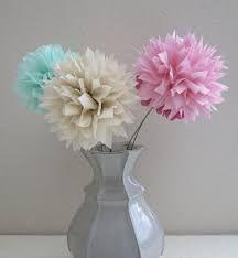 Image result for pom pom flower centerpieces
