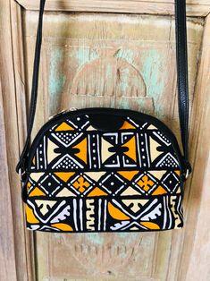 Round Bag, Christmas Gifts For Her, Printed Bags, Orange Yellow, Hobo Bag, Ankara, Shoulder Bag, Etsy, Boho