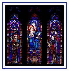 stained glass window Nativity