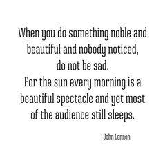 sunrise -- john lennon