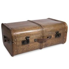 AVENTURIER wooden chest 40 x 65 cm