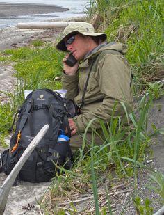 Taking a Quick Break From a Long Day Of Bear Viewing - Sasquatch Alaska