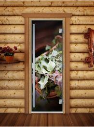 Дверь для бани, сауны и хамама Престиж фотопечать А008, DoorWood