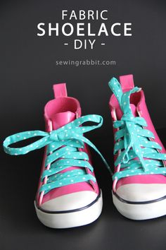 Fabric Shoelace DIY - awesome way to give your shoes a POP of color!