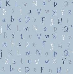 Harriet Bee Gilson Alphabet L x W Wallpaper Roll Colour: Blue Alphabet Wallpaper, Kids Room Wallpaper, Wallpaper Roll, Pattern Wallpaper, Drops Patterns, Design Repeats, Adhesive Wallpaper, Pattern Names, Printable Paper