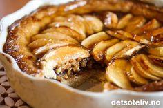 Apple Cinnamon Caramel Tart | Det søte liv