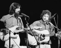 """soundsof71: """"George Harrison and Smilin' Bob Dylan at the Concert for Bangladesh, August 1 1971, Madison Square Garden, by Billy Ray/NY Daily News """""""