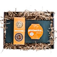 Deep South Gift Box: pimento chevre, crackers, beautiful slate cheeseboard.  Belle Chèvre.  Great gift boxes at this website!