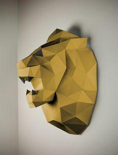 Löwe Papierfigur Papertrophy Papercraft | Papertrophy