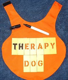 It's so simple to make your own therapy dog vests following our free dog vest pattern!