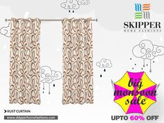 """This monsoon bring home wide range of curtains of your choice only from Skipper Home Fashions. Grab the big monsoon sale offer and ornate your decor with sober curtains.#Monsoonsale #Homedecor #SkipperHomeFashions  Buy @ http://skipperhomefashions.com/sale-curt…/RC090752-readymade"
