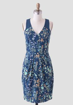 Botanical Dress In Navy By Sugarhill by: ShopRuche.com