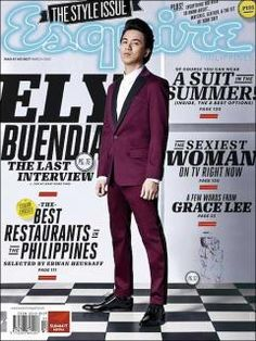 Esquire Philippines' March 2012 issue with Ely Buendia on the cover. Editorial Layout, Editorial Design, Filipina Girls, Fashion Mag, Cover Pages, Book Covers, Ely, Esquire, Magazine Design