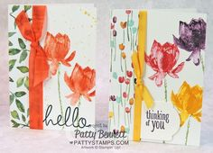 Lotus Blossom Stamp set (free during Sale a Bration Jan 6 to March 31, 2015) from Stampin' Up! card ideas by Patty Bennett #saleabration2015 #stampinup