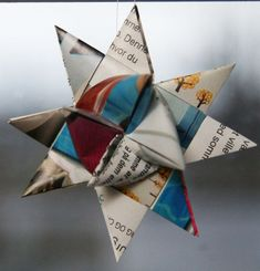 make a star out of paper or gift wrapping paper.