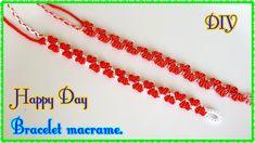 ❤ DIY Easy Valentine's Day Heart Bracelet Tutorial ❤ Bracelet macramé S. Valentine Special, Saint Valentine, Valentines Day Hearts, Macrame Tutorial, Bracelet Tutorial, Heart Bracelet, Bracelets, Heart Chain, Easy Diy