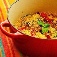 Couscous com legumes grelhados