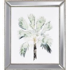 The inviting green of the Paragon Watercolor Palm I Framed Wall Art lends a light and airy tropical touch to your décor. This giclée print. Metal Wall Art, Framed Wall Art, Beveled Mirror, All Wall, Beach Art, Giclee Print, Art Print, Graphic Art, Palm