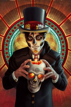 Dia de los Muertos - Male by Chronoperates.deviantart.com on @deviantART
