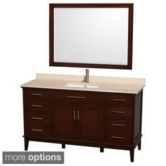 Wyndham Collection Hatton Dark Chestnut 60 Inch Single Sink Bathroom Vanity