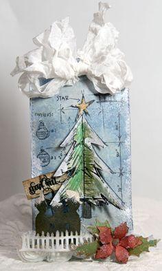 Anne Kristine: Blueprint stamp http://annespaperfun-aksh.blogspot.com/2012/10/christmas-tag_30.html