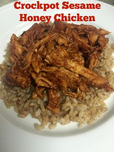 Crockpot Sesame Honey Chicken- easy & good- with ingredients you probably have on hand!