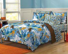 Teen Boy Bedding | New Extreme Sports Blue Teen Boys Bedding