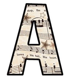 Vintage printables - FREE * Printable Vintage Sheet Music: ---the entire ALPHABET. Plus, there are more complete free printable sets available to choose from. Great for DIY bunting, banners & party decorations. Vintage Sheet Music, Vintage Sheets, Alphabet Games, Printable Alphabet, Alphabet Letters, Music Crafts, Make Your Own Card, Baby Mobile, Bulletins