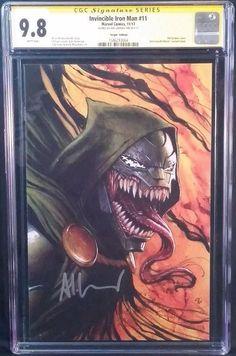 MARVEL Comics INVINCIBLE IRON MAN #11 CGC SS 9.8 Venomized Virgin Granov DR DOOM