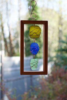 Suncatcher Sea Glass Copper Cedar Indoor Outdoor